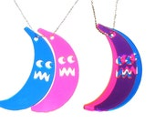Banana-man Necklace Blue, Pink, & Purple
