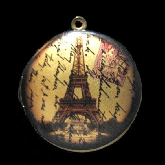 Altered Art PHOTO LOCKET - Paris Ephemera - 02