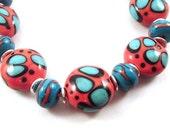 Handmade Lampwork Beads, Western Flair