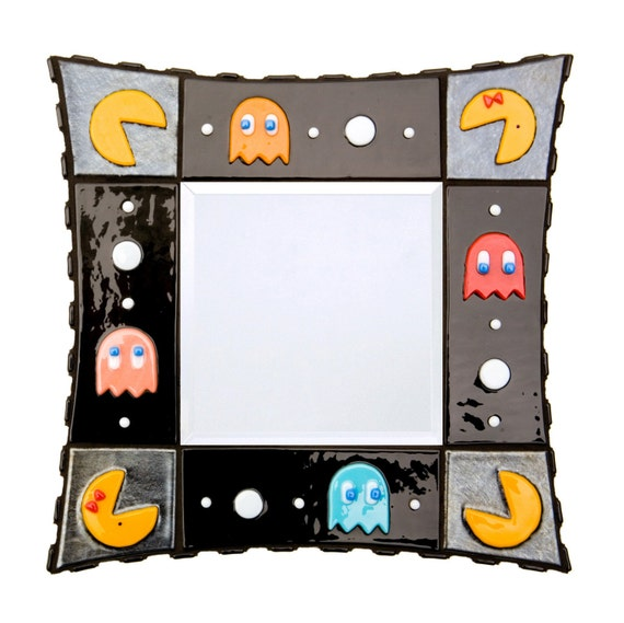 PacMan fused glass mirror