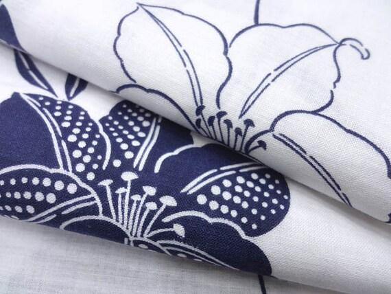 Vintage Japanese Yukata Kimono - cotton indigo dyed