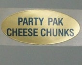 80 PARTY PAK cHEESE CHUNKS stickers. stickers you clearly need