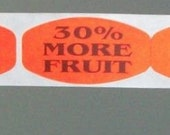 SALE, 80 stickers, thirty percent more fruit