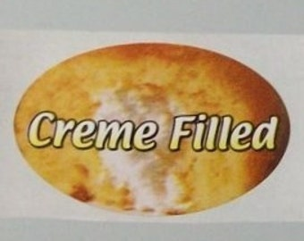 80 CREME FILLED stickers