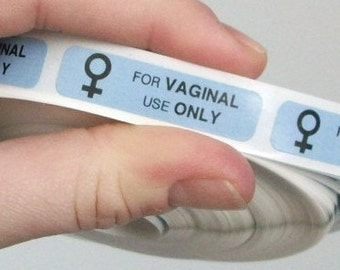 80 'FOR VAGINAL USE only' stickers
