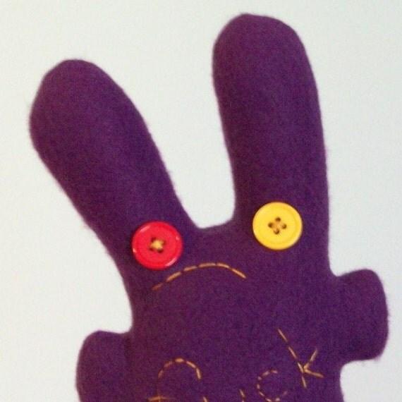 horrified f.ck bunny, purple, sale