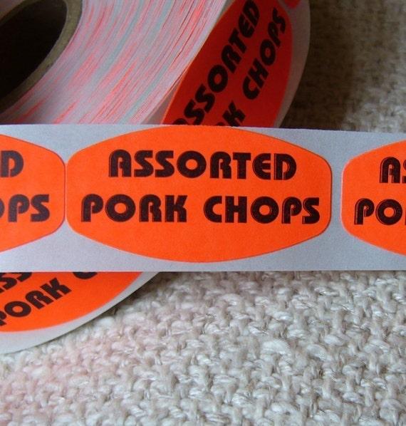 80 'Assorted Pork Chops' stickers, 1.5 inch, porktacular