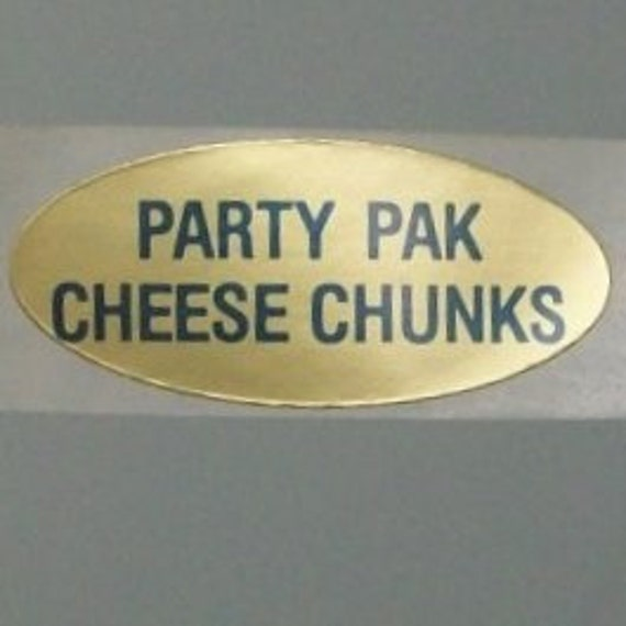 40 PARTY PAK cHEESE CHUNKS stickers. stickers you clearly need