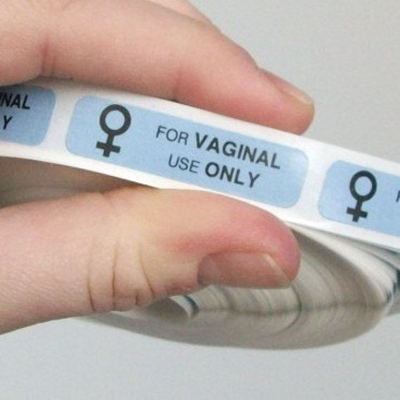 20 'FOR VAGINAL USE only' stickers