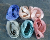 Six Silk Ribbons for Jewelry Designer
