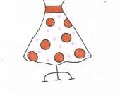 Pretty Dress Personalized Notecard