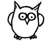 Squirrelly Stamps Little Owl Unmounted Rubber Stamp