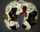 Western cow print nursing pillow cover