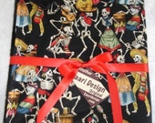Day of the dead Muertos punk rockabilly baby blanket