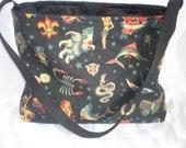tattoo Black punk boutique baby diaper bag purse tote