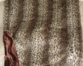 XL Cheetah Gorgeous handmade faux fur throw blanket