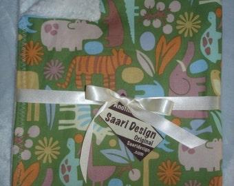 Saari Design 3D zoo animals boutique baby blanket
