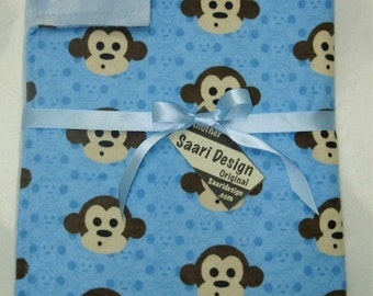 Sock Monkey boutique baby blanket