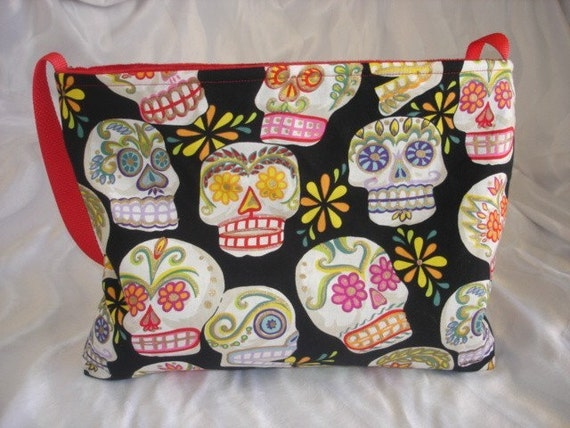 Day of the dead punk rockabilly skulls baby Diaper bag or purse