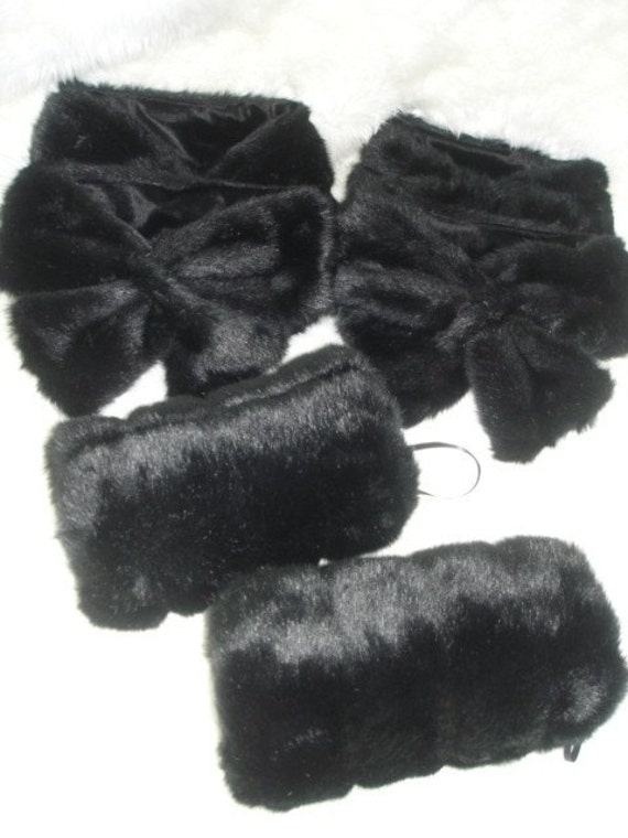 Faux Fur Hand Muffs  and pull thru scarf Great for weddings or holiday gifts