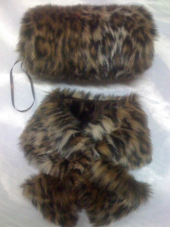 Sumptuously Soft Faux fur pull through SCARF neck wrap choose one