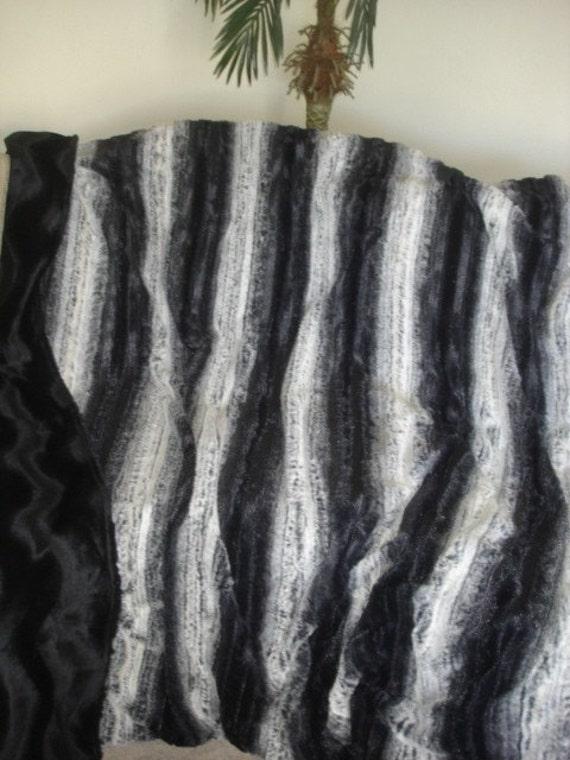 Sumptuous Chinchilla Faux Fur Throw Blanket