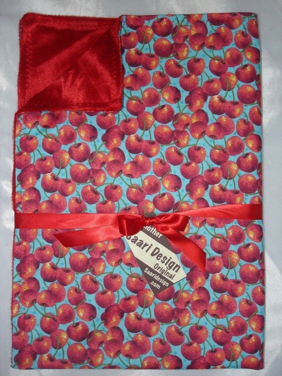 Cherries Boutique rockabilly baby blanket
