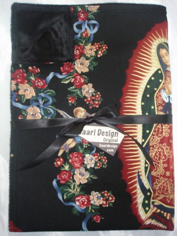 Punk Virgin of Guadalupe boutique baby blanket