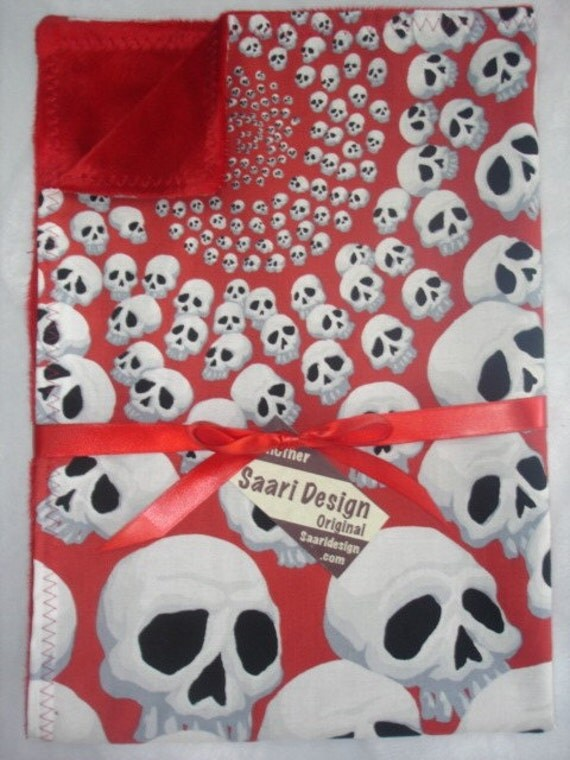 Skulls punk rockabilly baby blanket