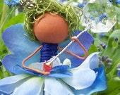 Blue Fairy Custom Artisan Made Ornament Faery Decor
