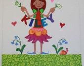 Fairy Girl Custom Origianl Artwork 5x7