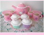 NEW LOWER PRICE  pdf  Crochet Pattern - Tea Set