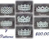 PATTERN BUNDLE - All 7 Gingersnap Boutique Crochet Crown Patterns