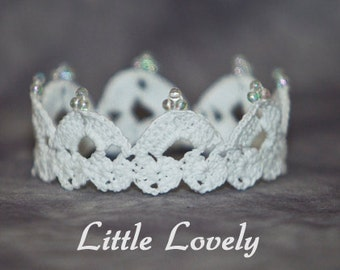 PATTERN - Crochet Crown - Little Lovely