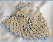 Raleigh Belle - Crochet Pattern Baby Toddler Dress With Headband