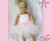 "Tutu For Dolly and Me Crochet Pattern Girl Sizes 3T - 10, American Girl Doll And 18"" Dolls"