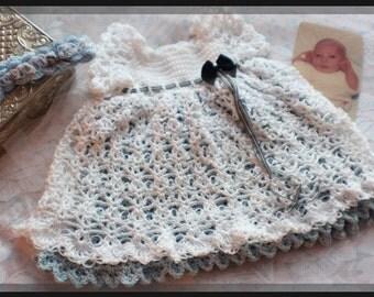 Meridian Belle Crochet Dress Pattern Newborn - Toddler - Baby to 3T