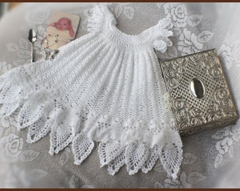 Celestial Crochet Christening Gown Pattern Crochet Baptism Gown Pattern Blessing Dress Pattern Crochet Lace Dress Pattern Newborn to 12 mos