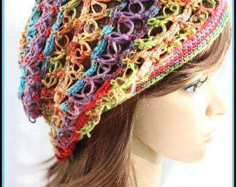 Gems - Beautiful 1 Skein Hat Crochet Patterm , 2 Sizes