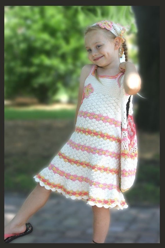 Market Day Dress Crochet Pattern Baby 12 Mos By Crochetgarden