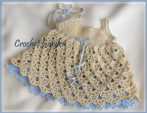 Raleigh Belle - Crochet Pattern Baby Toddler Dress With Headband