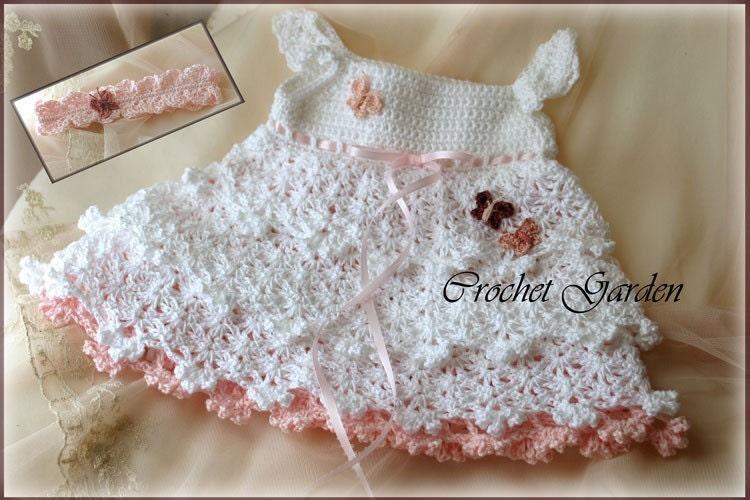 Crochet Patterns Toddler Dress : Savannah Belle Crochet Baby Dress Pattern Baby by CrochetGarden