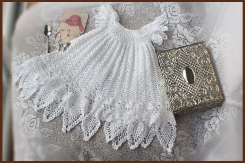 Celestial Christening Gown Crochet Pattern Sizes Newborn 3
