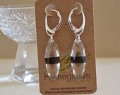 Smoky Quartz Rock Crystal Faceted Marquise Earrings Sterling Silver