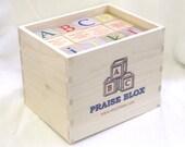 PraiseBlox - 36 Wooden Alphabet Blocks - 23 Christian Praise Songs