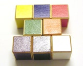 Large Color Blocks - 1.5 Inch Painted Wood - 8 Cubes