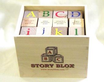 Build-Your-Own-StoryBlox - 36 Educational Alphabet Blocks - 144 Sentence Fragments