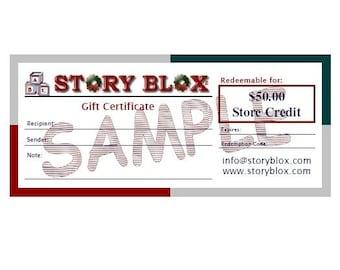 Gift Certificate - Store Credit - 50 Dollars