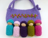 Bunting dolls  in a  pouch set