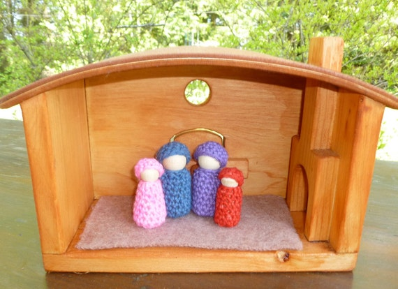 Wood doll house or cottage